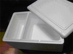 Коробка из пенопласта для перевозки сыра